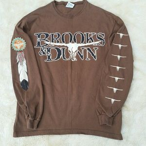 Vintage Brooks & Dunn graphic tee distressed M